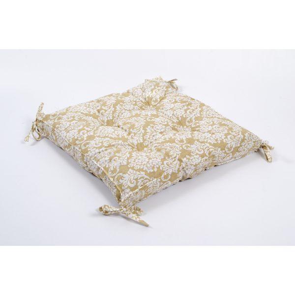 купить Подушка на стул Lotus - Crown с Завязками Бежевый фото