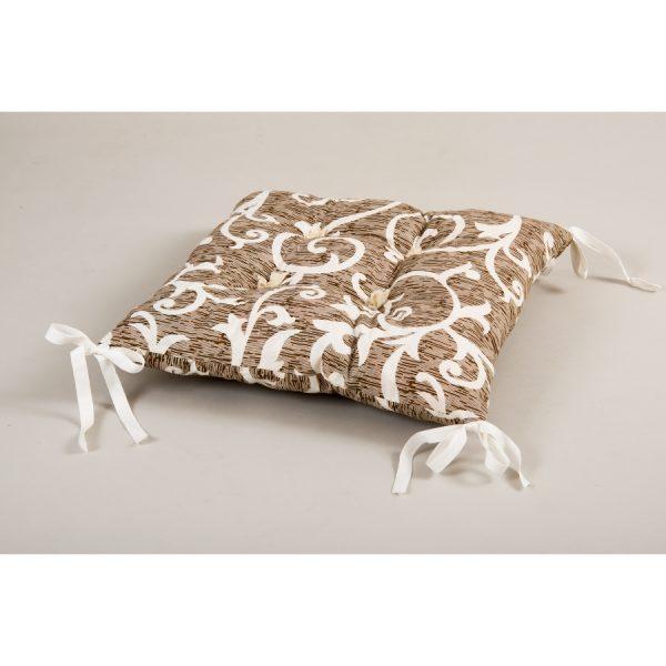 купить Подушка на стул Lotus - Jaco с Завязками Коричневый фото
