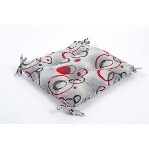 купить Подушка на стул Lotus - Pery с Завязками Серый фото