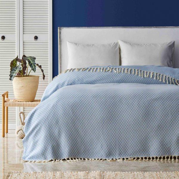 купить Покрывало Пике Nautica Home - Ester Mavi Голубой фото