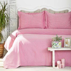 купить Покрывало с наволочками Karaca Home - Cally Fusya Розовый фото