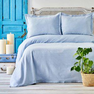 купить Покрывало с наволочками Karaca Home - Cally Mavi Голубой фото