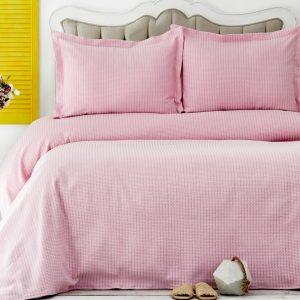 купить Покрывало с наволочками Karaca Home - Cally Pembe Розовый фото