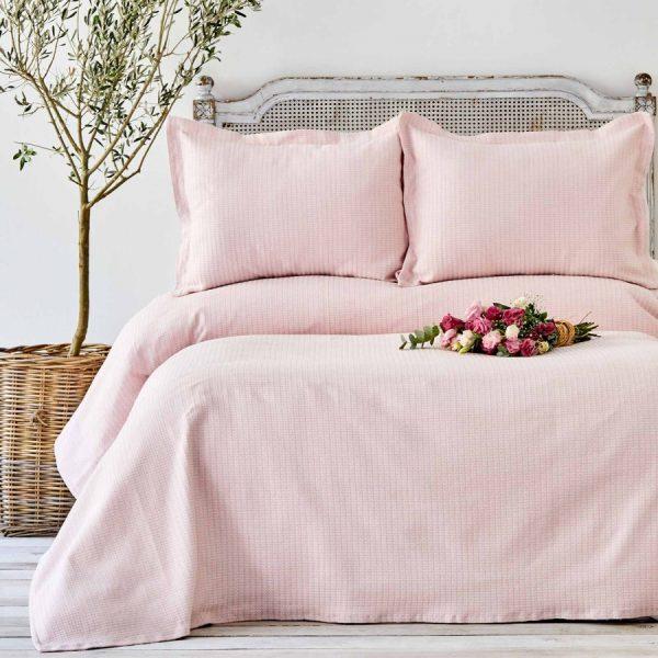 купить Покрывало с наволочками Karaca Home - Cally Pudra Розовый фото