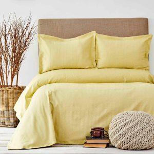 купить Покрывало с наволочками Karaca Home - Palvi Cagla Yesili Желтый фото