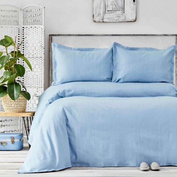купить Покрывало с наволочками Karaca Home - Palvi Mavi Голубой фото