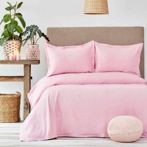 купить Покрывало с наволочками Karaca Home - Palvi Pembe Розовый фото