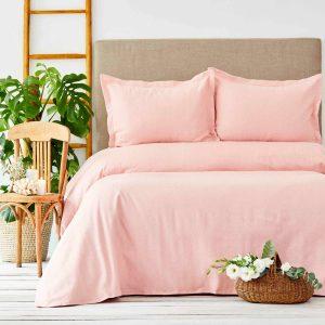 купить Покрывало с наволочками Karaca Home - Palvi Yavru Agzi Розовый фото