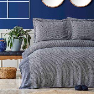 купить Покрывало с наволочками Nautica Home - Carla Indigo Синий фото