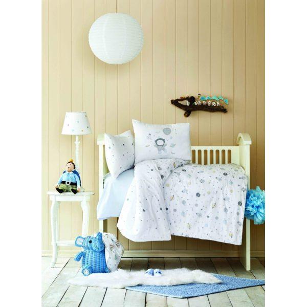 купить Постельное белье для Младенцев Karaca Home - Space Mavi 2020-2 Белый фото