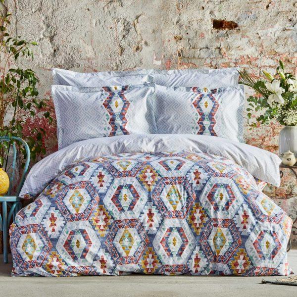купить Постельное белье Karaca Home Ранфорс - Besta Indigo Голубой фото