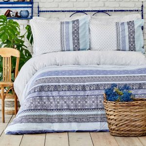 купить Постельное белье Karaca Home Ранфорс - Nileso Mavi Голубой фото