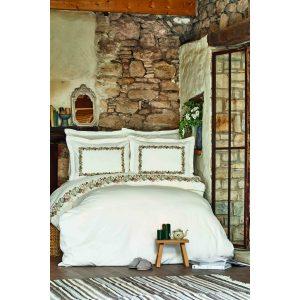 купить Постельное белье Karaca Home Ранфорс - Serena Yesil Белый фото
