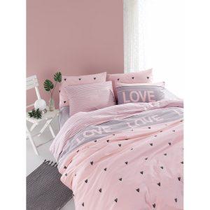 купить Постельное белье Lotus Home Perfect Ranforce - Love You Розовый фото