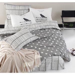 купить Постельное белье Lotus Home Perfect Ranforce - Wickley Серый фото