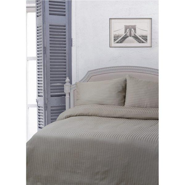 купить Постельное белье Lotus Отель - Сатин Страйп 1*1 серый Серый фото
