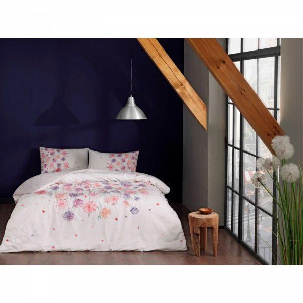 купить Постельное белье TAC Ранфорс - Ezra Pembe V01 Розовый фото