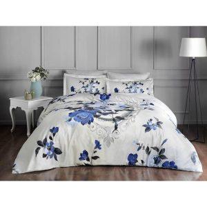 купить Постельное белье TAC Сатин Delux - Vella Mavi V01 Голубой фото