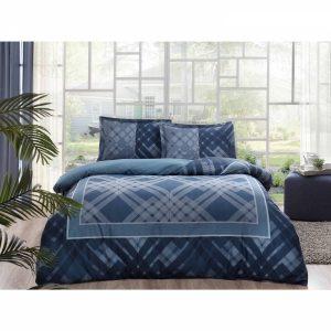 купить Постельное белье TAC Сатин - Luana Lacivert V03 Синий фото