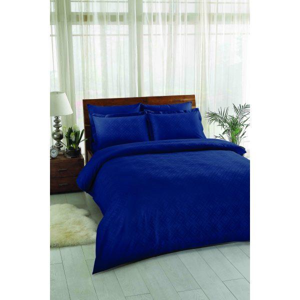 купить Постельное белье TAC Жаккард - Vision Lacivert Синий фото