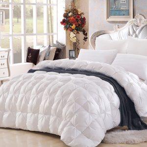 купить Одеяло бамбук с Пухом Белый фото