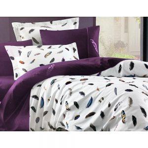 купить Постельное белье Maison Dor PULUME VOLANTE DARK LILAC Фиолетовый фото