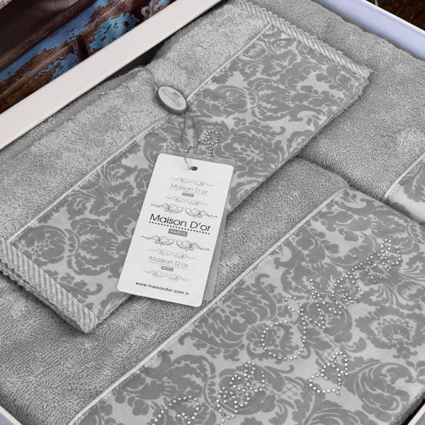 купить Набор бамбуковых полотенец Maison Dor ROSE MARINE GREY 3 Серый фото 2
