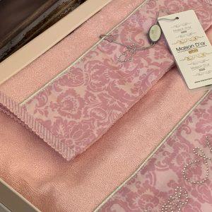 купить Набор бамбуковых полотенец Maison Dor ROSE MARINE PINK 3 Розовый фото 2