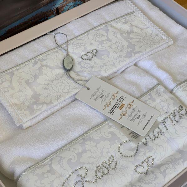 купить Набор бамбуковых полотенец Maison Dor ROSE MARINE WHITE 3 Белый фото 2