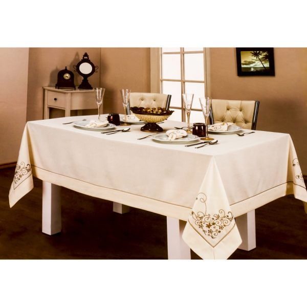 купить Скатерть Amour Paris - Elisa Set с Салфетками (8 Шт) Кремовый фото