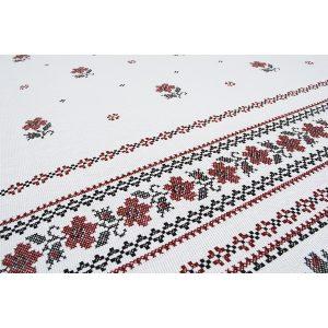 купить Скатерть Lotus - Cross-Stitch Красный|Белый фото