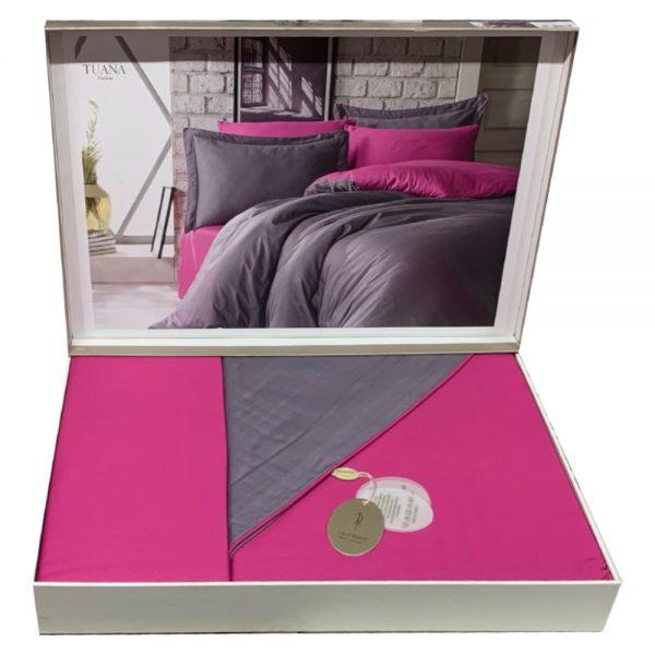 купить Постельное белье Сатин Dantela Vita TUANA FUCHSIA Розовый фото