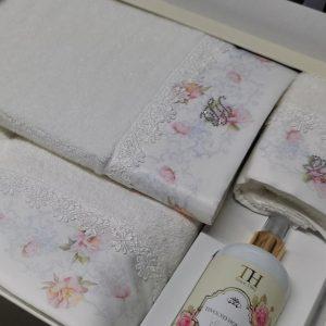купить Набор полотенец TIVOLYO HOME VENICE BEYAZ 3 Белый фото