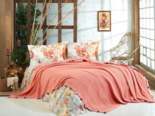 купить Постельное белье Dantela Vita VIOLET MERCAN Оранжевый фото