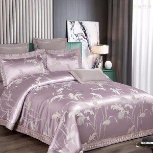 купить Постельное белье Bella Villa Сатин-Жаккард J-0066 Лиловый фото