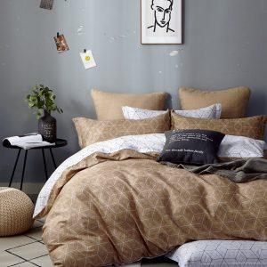 купить Постельное белье Bella Villa Сатин B-0293 Бежевый фото
