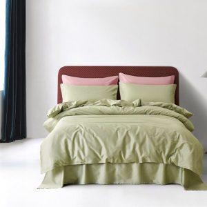 купить Постельное белье Bella Villa Сатин De Luxe T-0008 Зеленый фото