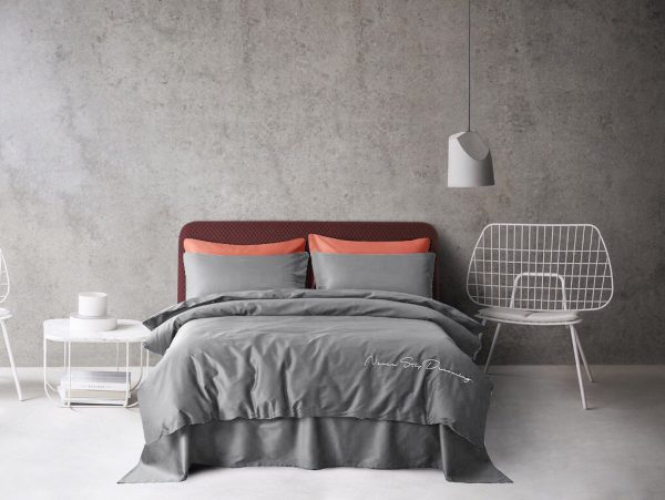 купить Постельное белье Bella Villa Сатин De Luxe T-0009 Серый фото