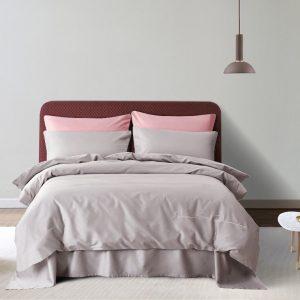 купить Постельное белье Bella Villa Сатин De Luxe T-0010 Серый фото