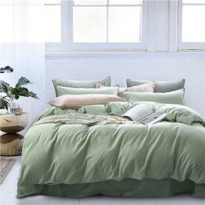 купить Постельное белье Bella Villa вареный хлопок W-0013 Зеленый фото