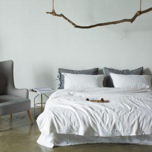 купить Постельное белье Bella Villa вареный хлопок W-0014 Белый фото