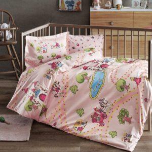 купить Детское постельное белье в кроватку TAC Princess Розовый фото