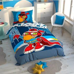 купить Детское светящееся постельное белье TAC Sizinkiler Zeytin Синий фото
