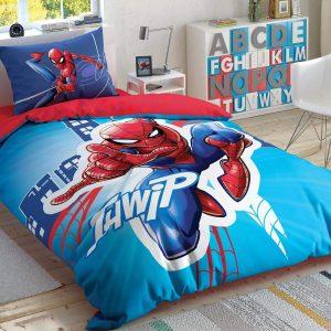 купить Детское светящееся постельное белье TAC Spiderman Light City Голубой фото
