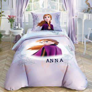 купить Детское двустороннее постельное белье TAC Frozen2 DColor Elsa Лиловый|Голубой фото 2