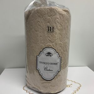 купить Простынь на резинке с наволочками TIVOLYO HOME MAHRA SAMON Бежевый фото