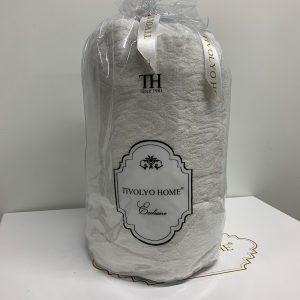 купить Простынь на резинке с наволочками TIVOLYO HOME MAHRA BEYAZ Белый фото