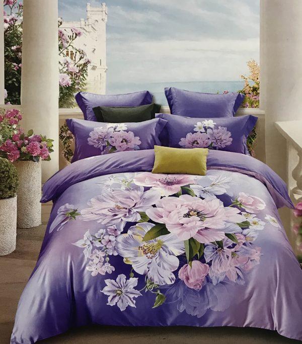 купить Постельное белье Тенсел кашемир 87157 Фиолетовый фото