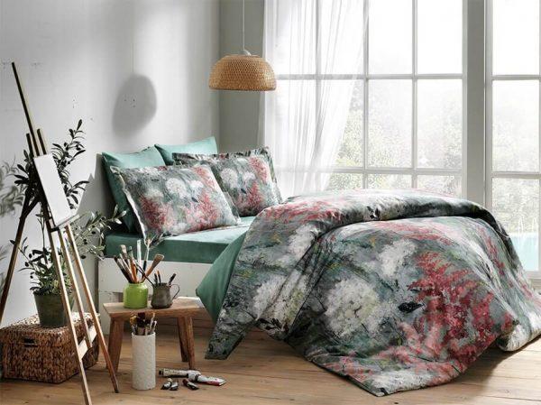 купить Постельное белье TAC Agatha Green Digital Зеленый фото
