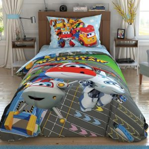 купить Детское постельное белье TAC Super Wings Runway Серый фото